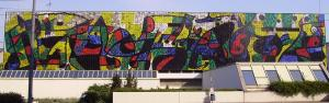 Mural of Joan Miró in Ludwigshafen, Germany