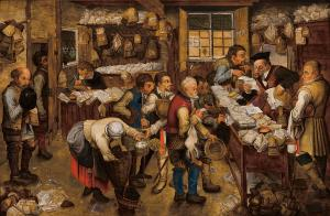 The tax-collector's office, Pieter Brueghel the Younger