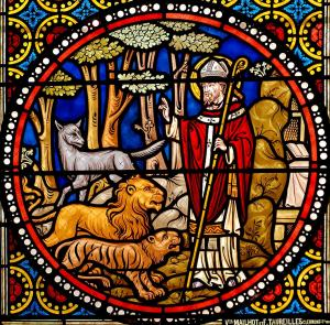Stained glass window from Saint Austremonius church, France