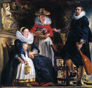 Self-Portrait with his Family, Jacob Jordaens
