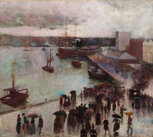 Departure of the Orient, Circular Quay, Charles Conder