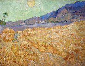 Wheatfield with a reaper, Vincent van Gogh