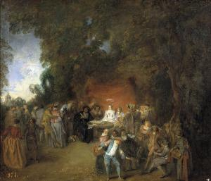 Capitulations of wedding and rural dance, Watteau