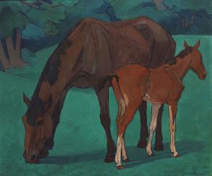 Mare and Foal, Robert Bevan