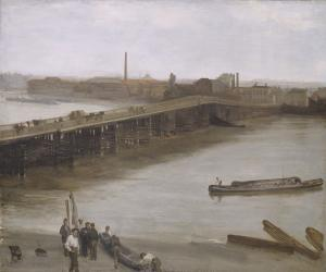 Brown and Silver, Old Battersea Bridge, James Whistler