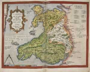 Map of Wales and Anglesey, 1579