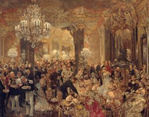 The Dinner at the Ball, Adolph Menzel