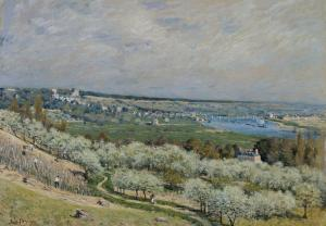 The Terrace at Saint-Germain, Alfred Sisley