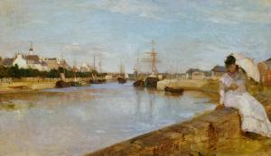 The Harbor at Lorient, Berthe Morisot