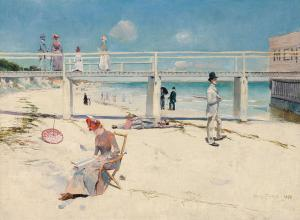 A holiday at Mentone, Charles Conder