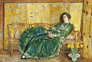 April (The Green Gown), Childe Hassam