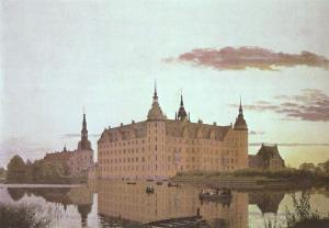 Frederiksborg Castle in the Evening Light, Christen Købke