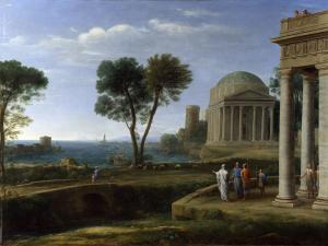 Landscape with Aeneas at Delos, Claude Lorrain