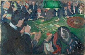 At the Roulette in Monte Carlo, Edvard Munch