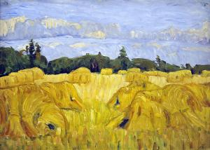 Field with sheafs, August Haake