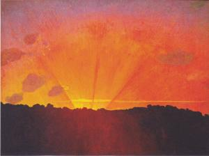 Sunset, Orange Sky, Félix Vallotton
