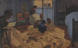 The Laundress, Blue Room, Félix Vallotton