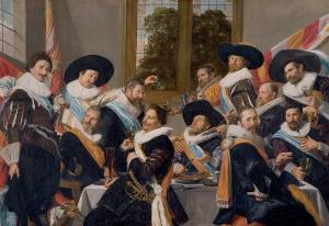 Banquet of the officers of the Calivermen Civic Guard, Hals