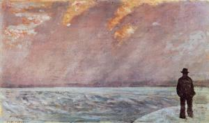 Sunset at Sea, Giovanni Fattori