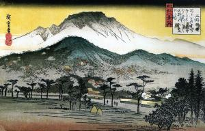 Evening bell at Mii Temple, Utagawa Hiroshige