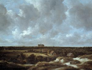 A View of Haarlem and Bleaching Fields, Jacob Ruisdael
