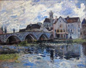 The Bridge at Moret, Alfred Sisley