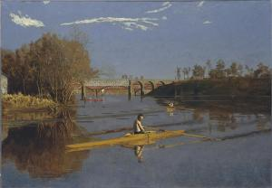 Max Schmitt in a Single Scull,Thomas Eakins