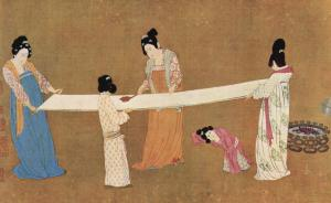 Ladies making silk, Emperor Huizong of Song