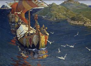 Guests from Overseas, Nicholas Roerich
