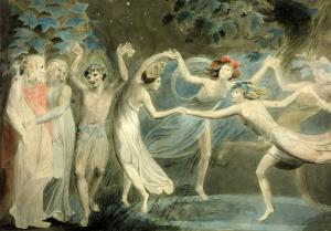 Oberon, Titania and Puck with Fairies Dancing, William Blake