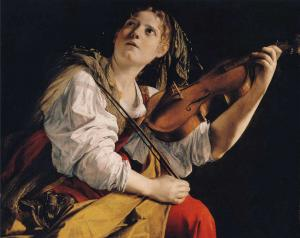 Young Woman Playing a Violin, Zurbarán