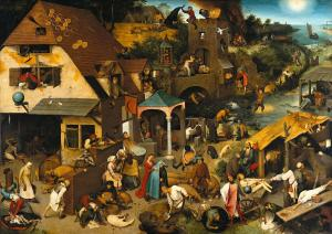Netherlandish Proverbs, Pieter Bruegel the Elder