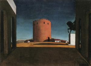 The Red Tower, Giorgio de Chirico