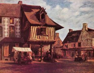 Marketplace in Normandy, Théodore Rousseau