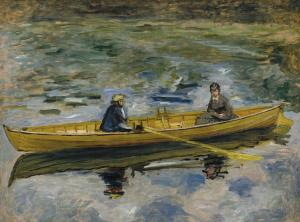 Claude Monet with Mme Henriot, Pierre-Auguste Renoir