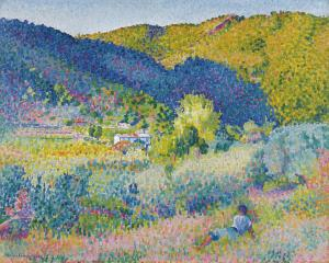 Landscape with Mountain Range, Henri-Edmond Cross