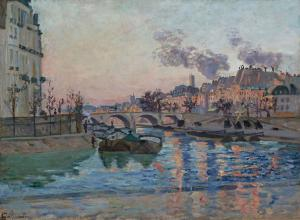 Paris, the Bridge of Marie, Armand Guillaumin