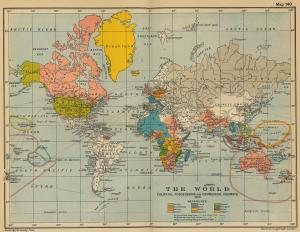 1910 World Map