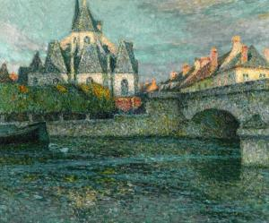 The Church, Nemours, Henri Le Sidaner