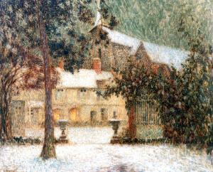 House in Snow, Henri Le Sidaner