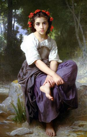 At the Edge of the Brook, Bouguereau