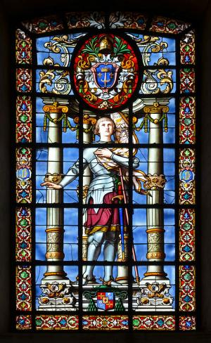 Stained glass window from La Rochelle Cathedral