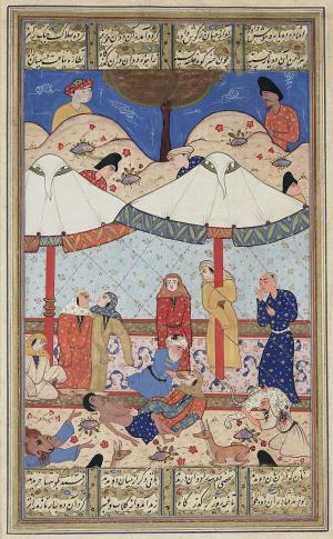 The fainting of Laylah and Majnun