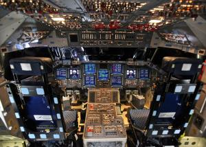 Space Shuttle Endeavour's Control Panel