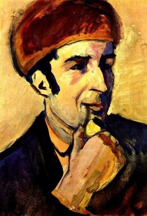 Portrait of Franz Marc, August Macke