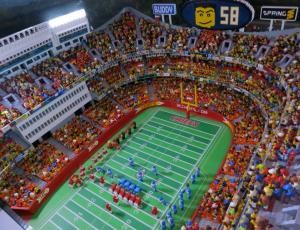 Toy football stadium