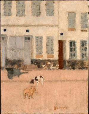 Two Dogs in a Deserted Street, Pierre Bonnard