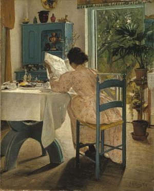 At Breakfast, L. A. Ring