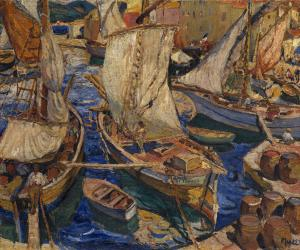 Fishing port in Saint Tropez, Mela Muter