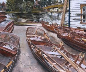 Turk's Boatyard Cookham, Stanley Spencer